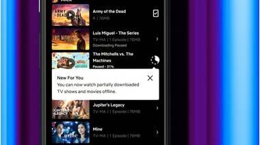 Функція часткових завантажень Netflix розгортається на Android, щоб дозволити користувачам переглядати шоу до завершення завантаження